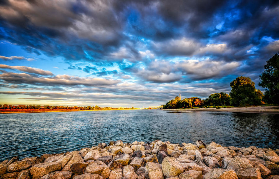 Marcin Adrian Water Reflections Beach Beauty In Nature Cloud - Sky Idyllic Land Landscape Nature No People Non-urban Scene Plant River River And Sky Rock Rock - Object Scenics - Nature Sea Sky Solid Tranquil Scene Tranquility Tree Water Wesseling