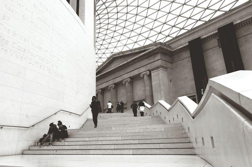 Stone Stair British Museum Glass Monumental