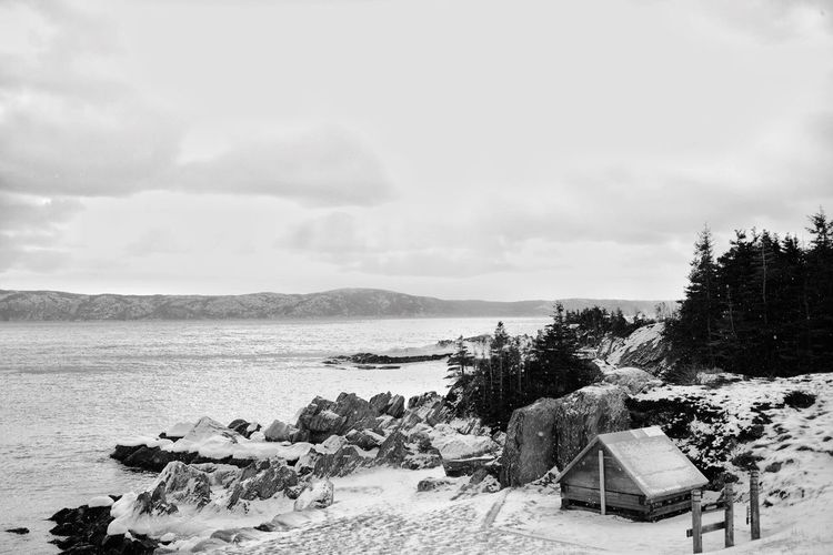 """No roads out"" - Newfoundland project Newfoundland Canada Coachman's Cove Snow Fishing Town"