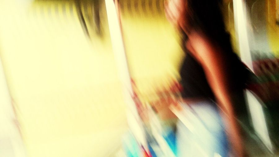 Defocused image of woman