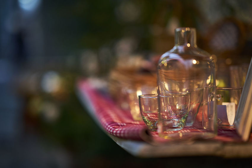 Bokehlicious Glasses Bokeh Bokeh Photography Bottle Close-up Day Focus On Foreground Food And Drink Freshness Glass No People Table