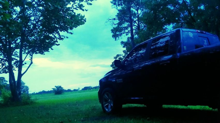 Hemi Dodge Ram  Sunset Country Love