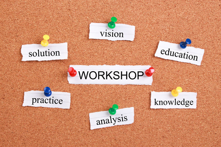 Practice Workshop Workshop View Advice Analysis Aspirations Beach Business Choice Communication Community Day Education Inspiration Knowledge Message No People Price Tag Sand Single Word Solution Text Vision Workshops