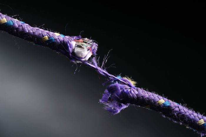 Black Background Close-up Multi Colored No People Pressured Purple Ready To Bust Rope Rope Breaking Snapped Stressed Out...