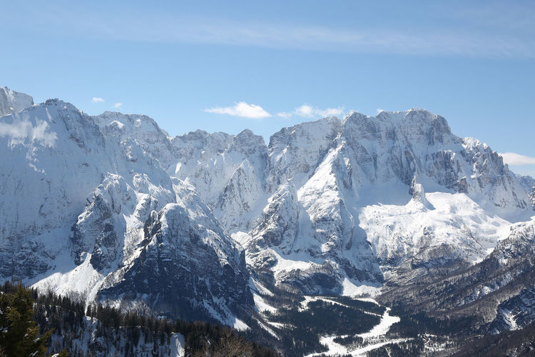 Lussari Mountain Tarvisio Friuli Winter Snow Snowy Snowed Cold Mountains Mount Peaks Tops Top Peak Udine Friuli Venezia Giulia Italian Italy Panorama View Panoramic Landscape Scenery Pano Viewpoint Lookout Belvedere Lookout Point