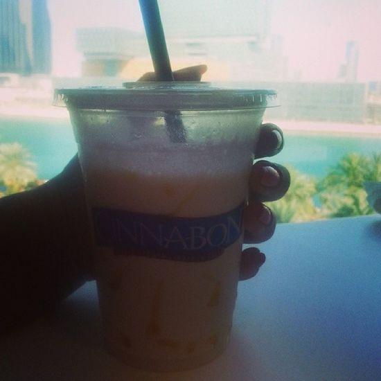 Coffee Iced Cinnabon Abudhabi abudhabi _ mall yummy salted caramel abudhabi uae