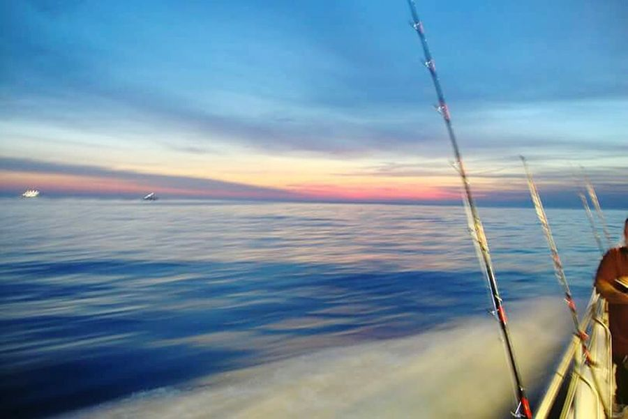 Racing sunrise, Hampton Harbor, NH