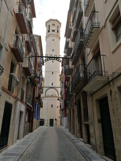 Architecture Building Exterior Built Structure City Outdoors Sky Day No People Architecture Alcoy Antique City Medieval Tranquility Retail Place Cultures Clock