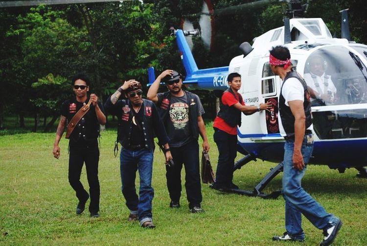 Bikers Brotherhood Mc INDONESIA Motorcycle Club 1% Helicopter Hello World Great Atmosphere Creative People EyeEm Indonesia El Presidente