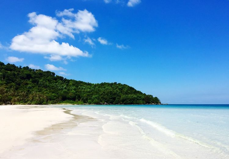 Vietnam, Sao Beach Sea Blue Scenics Beach Beauty In Nature Nature Tranquility Tranquil Scene Sky No People Water Day Sand Outdoors Cloud - Sky Horizon Over Water Tree Vietnam Clear Sky Travel Destinations Beauty In Nature Nature Tranquility Vacations