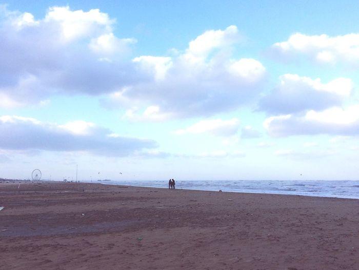 Rimini Italy Sea Sky Beach Cloud - Sky Horizon Over Water Nature Beauty In Nature Sand Vacations Winter Beach