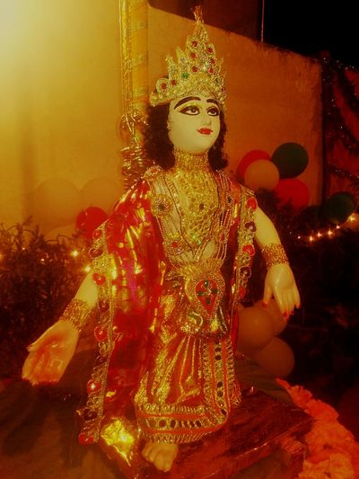 Statue Gold Colored One Person Glitter EyeEmNewHere The Week On EyeEm EyeEm EyeEm Gallery History Cultures Shiny Janmashtami happy B'day to shri Krishna