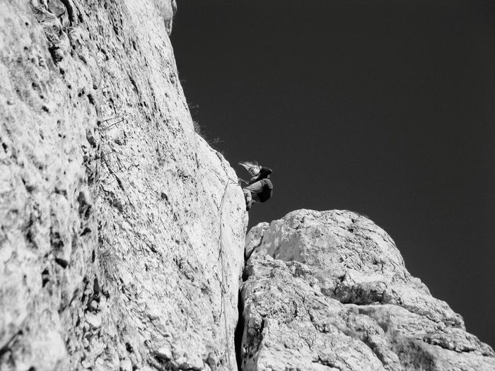 Rock climbing in Jura Czestochowska, Poland - Rock Rock Climbing Climbing Outdoors Adventure Mountain Black&white Blackandwhitephotography B&w Black And White Jura Krakowsko Czestochowska Wspinaczka Jura Klettern Extreme Sports Nature EyeEmNewHere Sport Fun Betterlandscapes Jura Poland Rzedkowice Limerock Miles Away Women Around The World Flying High Welcome To Black The Photojournalist - 2017 EyeEm Awards BYOPaper! Live For The Story The Great Outdoors - 2017 EyeEm Awards Sommergefühle Let's Go. Together. EyeEm Selects Second Acts Be. Ready. Black And White Friday EyeEm Ready   Press For Progress Go Higher Visual Creativity Summer Exploratorium