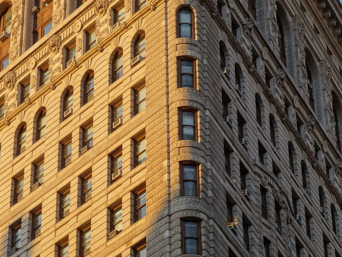 Flat Iron building in New York Architecture Building Exterior Built Structure City Cropped Flatiron Building New York USA Window
