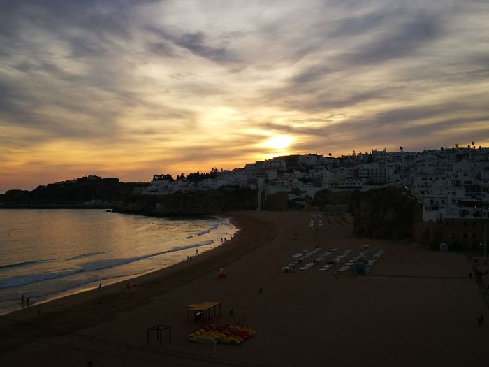 Albufeira,Portugal💟 Sunset Water No People Cloud - Sky Sky Sand Beach Sea Outdoors Horizon Over Water Dawn Night Cityscape City Colour Your Horizn The Traveler - 2018 EyeEm Awards