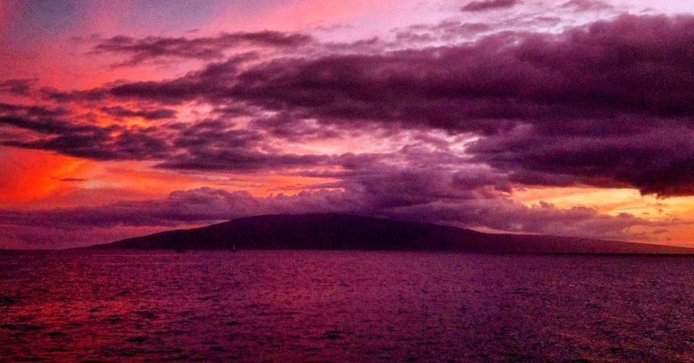 Sunset sky over