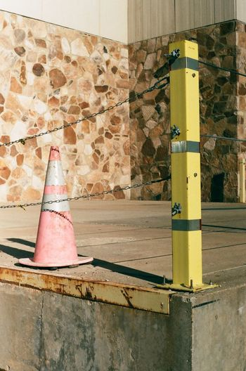 Faded Streetphotography Street Photography Street Streets Community College College Building Rockford Illinois Rockford Film Photography 35mm Film 35mm Film Muted Colors Abstract No People Day Built Structure Architecture Traffic Cone Outdoors Wall - Building Feature City Building Exterior Yellow