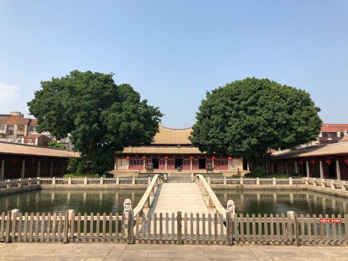 Confucian temple in Quan Zhou Confucious Temple Architecture Tree Built Structure Clear Sky Outdoors Day No People