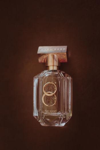 Close-up of bottle against black background