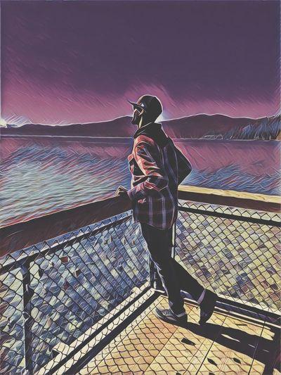 Purple Color Tahoe Lake Tahoe California EyeEmBestPics EyeEm Best Shots EyeEm Selects Childhood Memories Adult One Man Only Adults Only Only Men People Outdoors One Person Sky