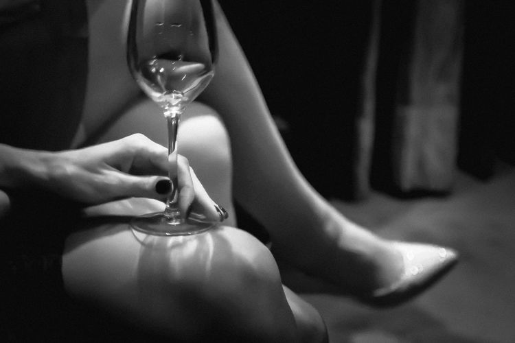 Blackandwhite Close-up Day Human Body Part Human Hand Indoors  One Person People Real People Wine Not Wineglass Women