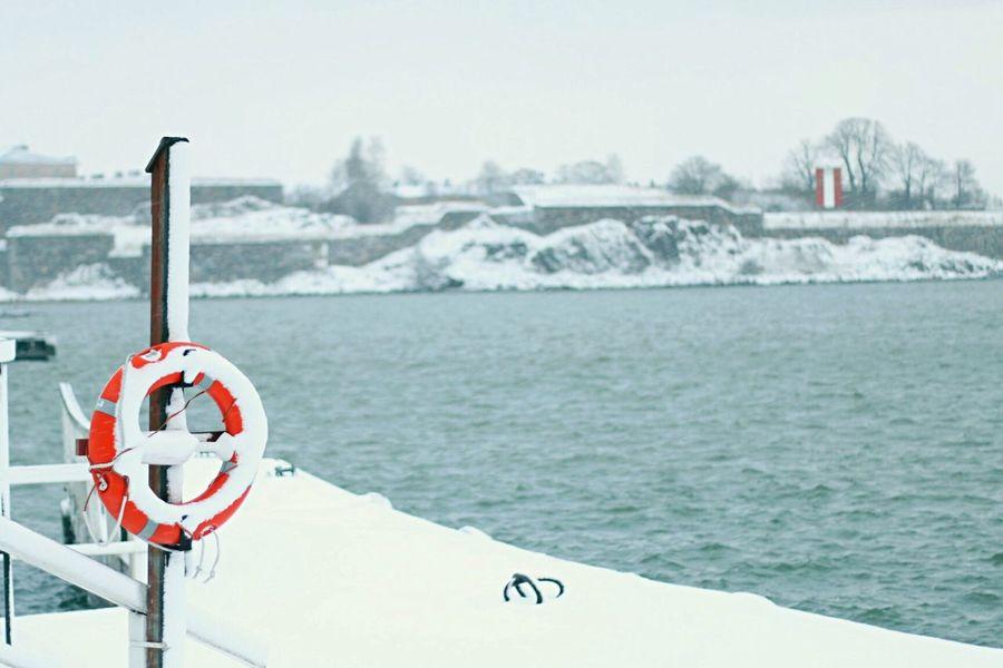 Helsinki Suomenlinna Snow Finland