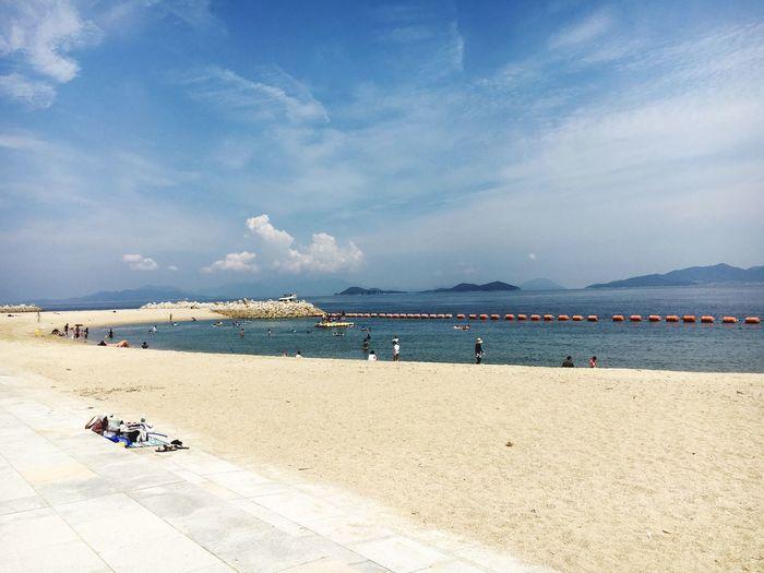 Being A Beach Bum Sea Relaxing Enjoying The Sun Sky Blue Setouchi Triennale