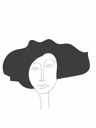 White Background Arts Culture And Entertainment Portrait One Person Sketching Moleskine Draw Abstract Art Grunge Art, Drawing, Creativity Art Gallery Illustration Ink ArtWork Drawings Tattoo Graphic Design Women Girl Woman Black & White Vintage Art Tattoos Drawing