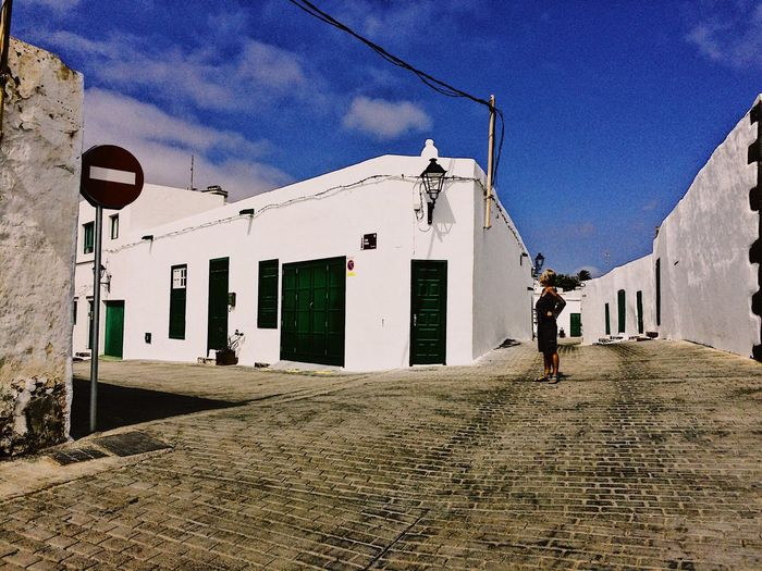 Teguise Canarian Islands Lanzarote-Canarias Building Exterior Built Structure Architecture Sky Building Real People Nature Sunlight Outdoors City People
