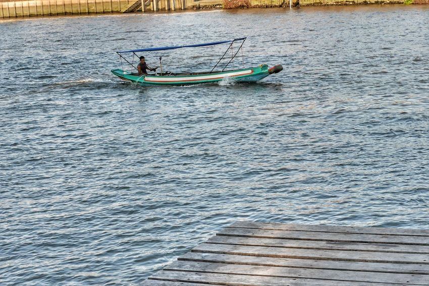 Day Thailand Nautical Vessel Water Outdoors Transportation Rippled Oar Men Nature Only Men Adult Adults Only Rowing Real People One Man Only People One Person Ko Kret Kohkret Thailand Photos Kokret Travel In Thailand