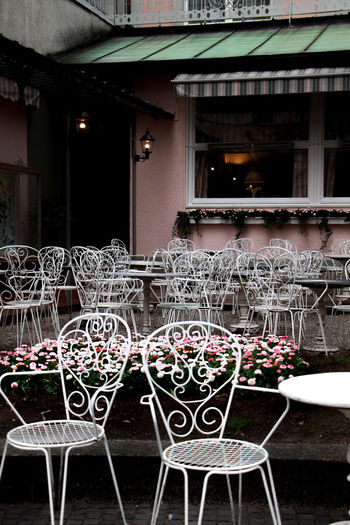 Romance Architecture Built Structure Seat Building Exterior No People Chair Table Absence Empty Cafe Building Metal Night Outdoors Restaurant Illuminated Railing Window Nature Setting Paris Travel Sweet Food Love Flowers City Germany Coffeeshop Caesarea Romantic Romance People Places Streetphotography Street Shops Cake Bakery The Week on EyeEm The Art Of Street Photography