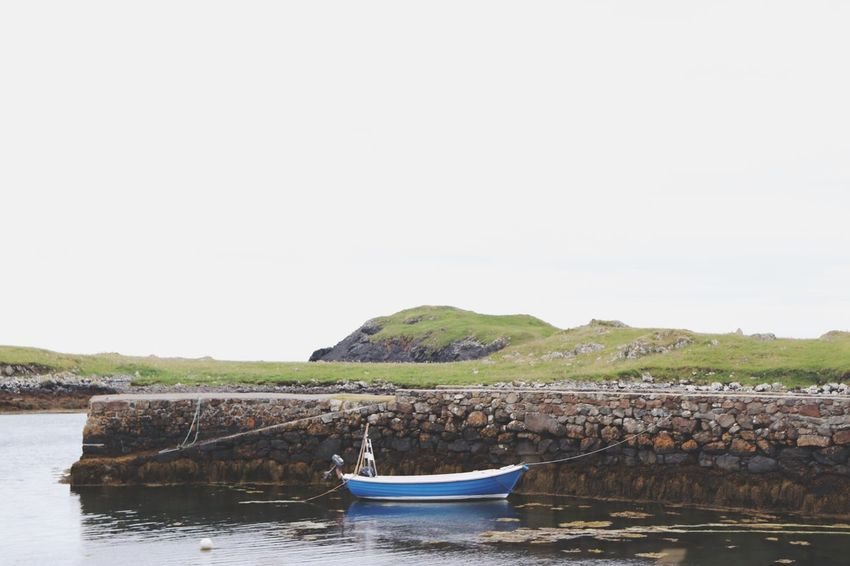 Scotland EyeEm Selects Water Nautical Vessel Sky Transportation Clear Sky Copy Space Mode Of Transportation Nature Day No People Scenics - Nature Tranquility Beauty In Nature Sea Moored Tranquil Scene Plant Land Outdoors Fishing Industry