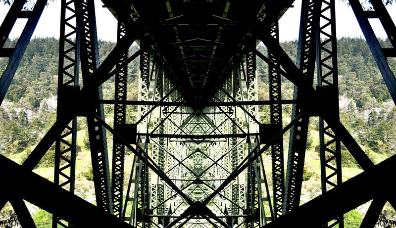 Bridge Deception Pass Washington Metal Shapes Beauty