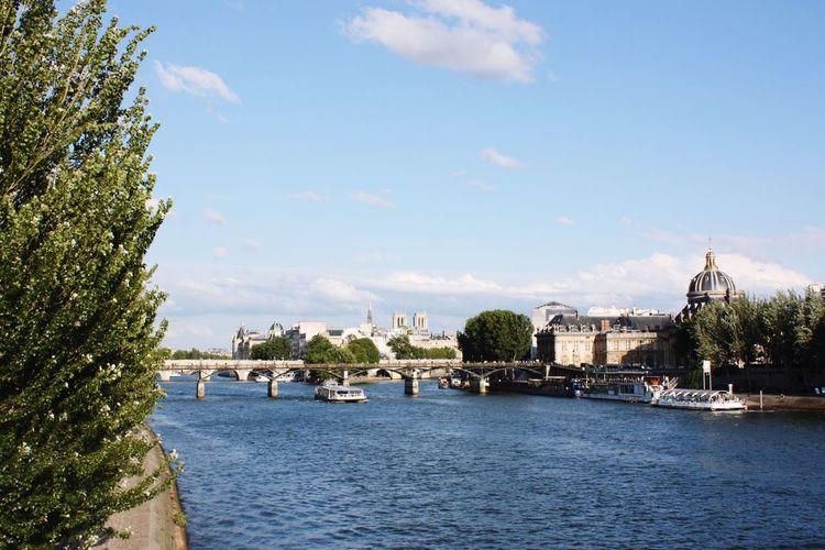 Paris River Sena Water View Paris View