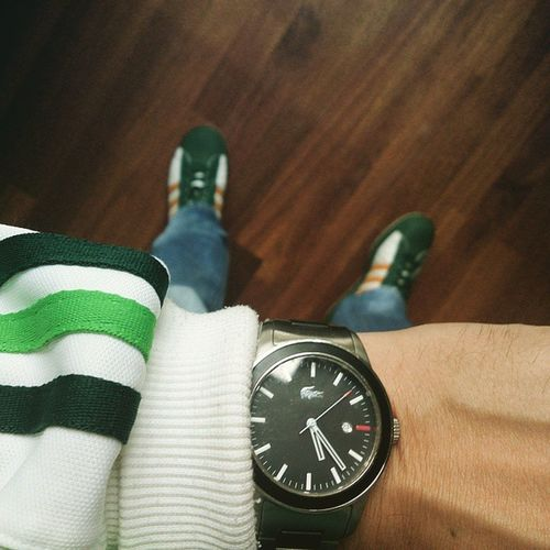 Timetohittheroad Beertime with some 2007 Adidassuperstars Lacostewatch Adidasjacket