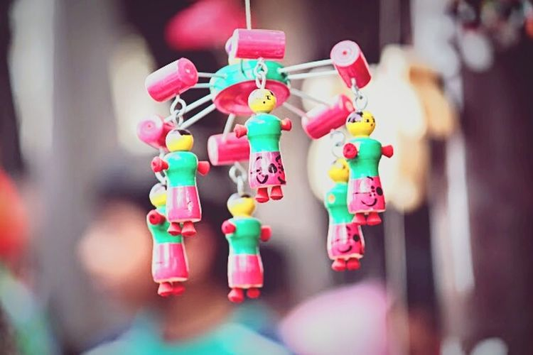 Hanging Toys Colors Blurred Peoples First Eyeem Photo
