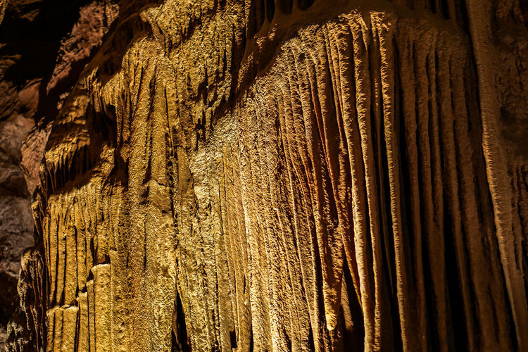 Backgrounds Beauty In Nature Cave Cavern Close-up Day Full Frame Low Angle View Nature No People Outdoors Rock Formation Stalactite  Textured