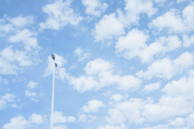 Backgrounds Beauty In Nature Blue Cloud Cloud - Sky Cloudscape Cloudy Day Low Angle View Nature No People Outdoors Pole Scenics Sky Sky Only Tranquil Scene Tranquility Weather White White Color