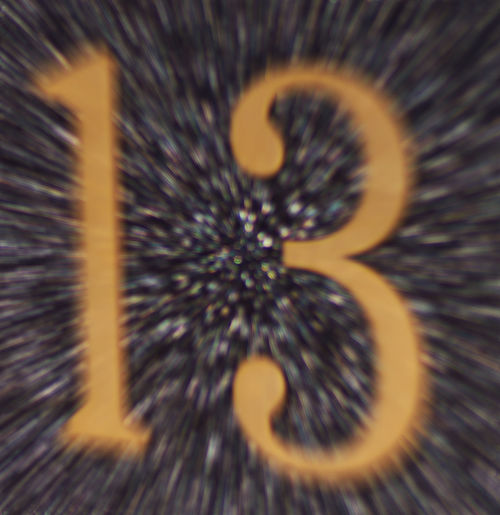 13 Friday 13th Motion Blurred Number