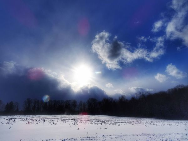 Good Morning December EyeEm Gallery Capture The Moment Beauty In Nature Tranquility Nature Sky Cold Temperature Scenics Winter Snow Cloud - Sky Tranquil Scene Outdoors Frozen