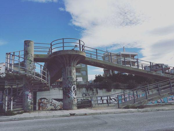 Check This Out Cityexplorer In Greece Cityscapes Graffiti Athens Beton Eyeemphotography Greece Bridge Bridge - Man Made Structure Urbanphotography Athens City City