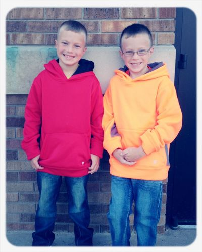 1st day of 3rd and 4th grade :) My Little Luvs