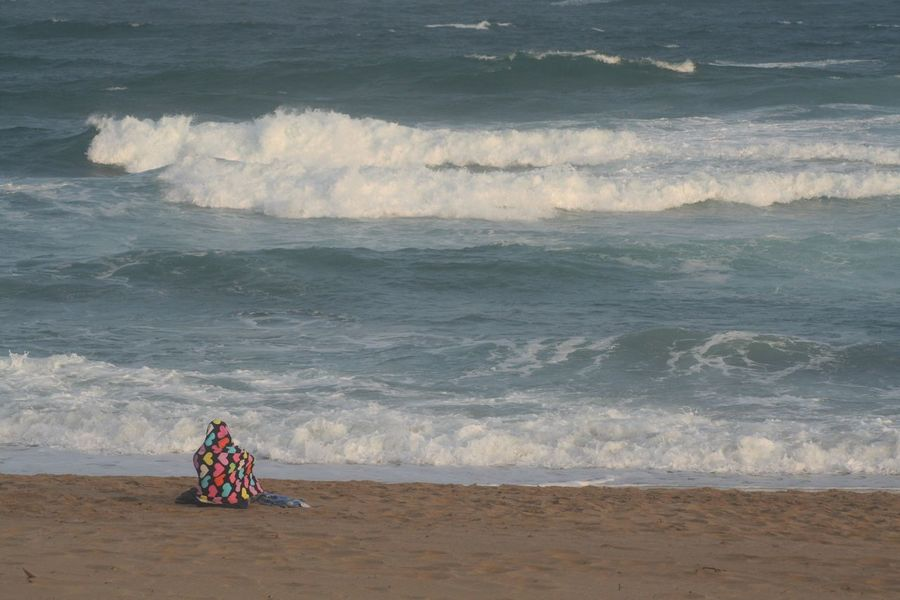 Lost In The Landscape Me Time Beach Day Focusing Horizon Over Water KwaZulu-Natal Coast Lone Figure Lone Person Nature One Person Outdoors Sand Sea Thinking Time Wave