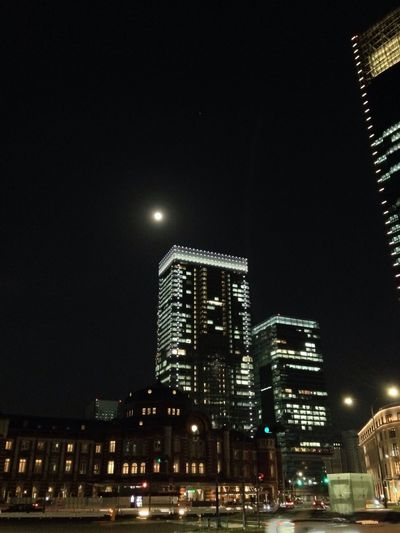 IPhoneography Tokyo Station Fullmoon