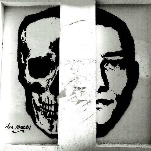 Streetart Man Skull Double Face