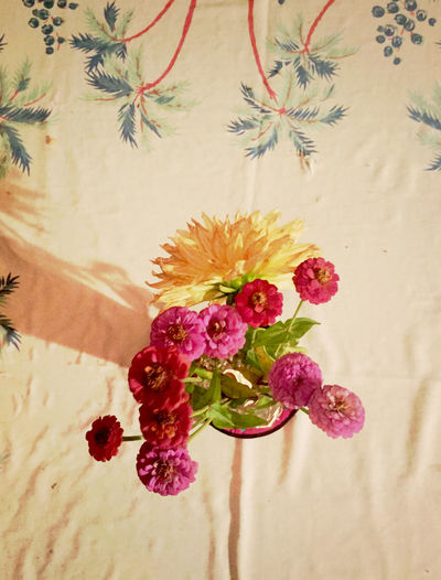 Flowers A Damask Table-cloth ArtWork Handmade Photography