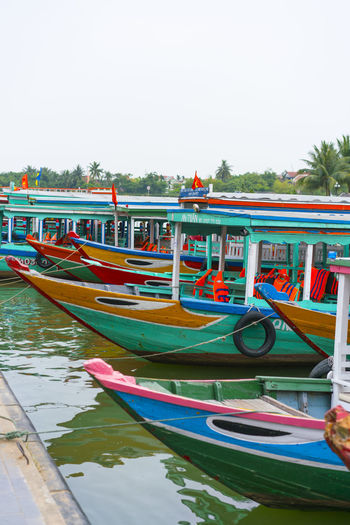 Colored boats.