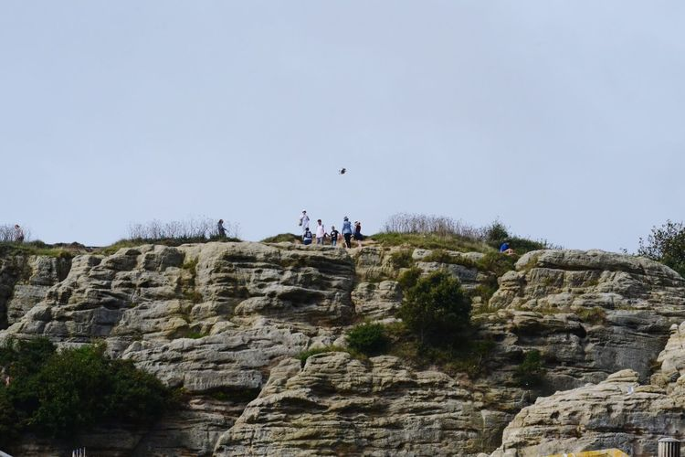 Rock Climbing Rocky Background Clear Sky People And Rocks People Day Nature Outdoors