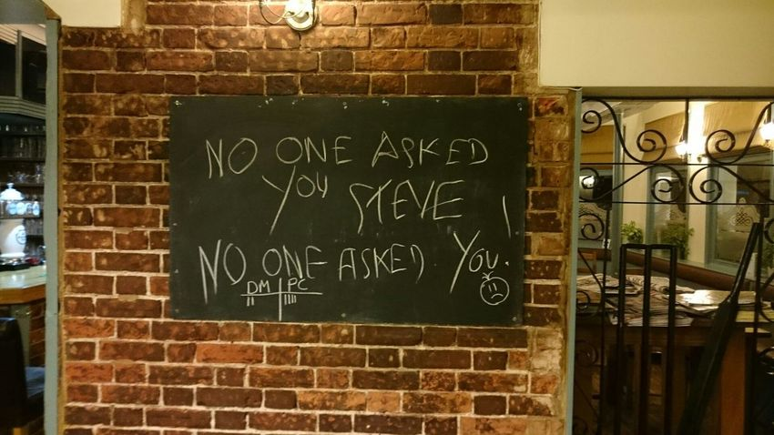 Graffiti Fun Piss Take Humour Humour Is Good For The Soul Wall Chalk Publife