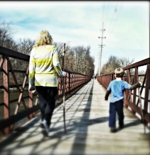 Mother and s0n out for a walk Walk Walking Mom And Son Walking Around Bridge Children Only Children Bridges Kids Having Fun Children Photography Children's Portraits Childhood Memories Child Boy Childhood Mom Child Photography Mother And Child Mom ❤ Children Playing Mother And Son Kids Playing Kids Portrait Kids Motherhood